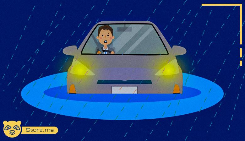 Votre voiture est bloquée dans les eaux que faire