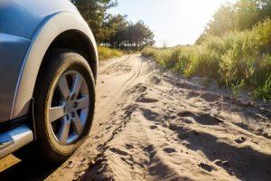 détérioration d'une voiture par le sable