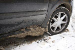 détérioration d'une voiture par le sel